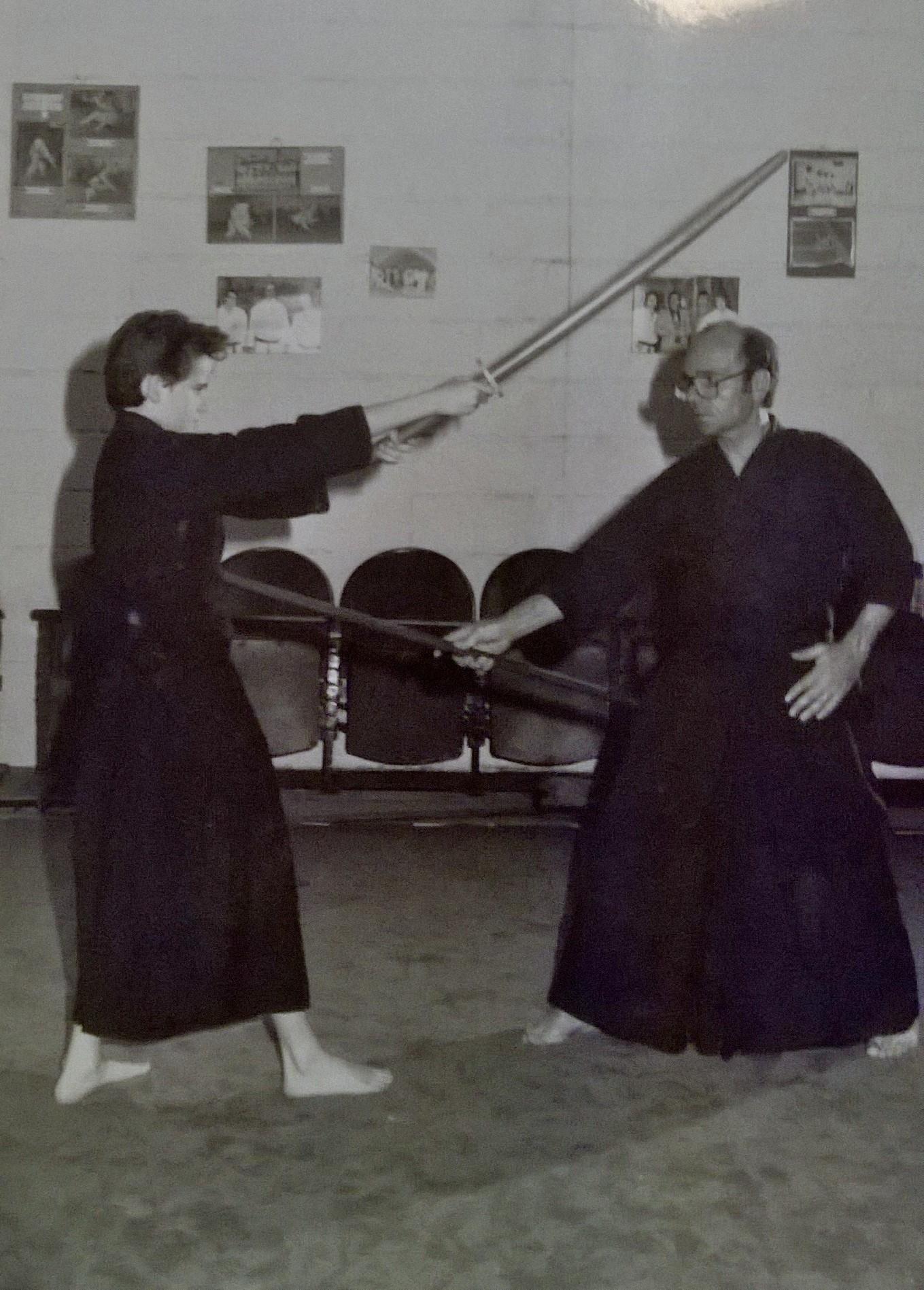 Alexandre et son père à l'entraînement au Judo Club Catalan