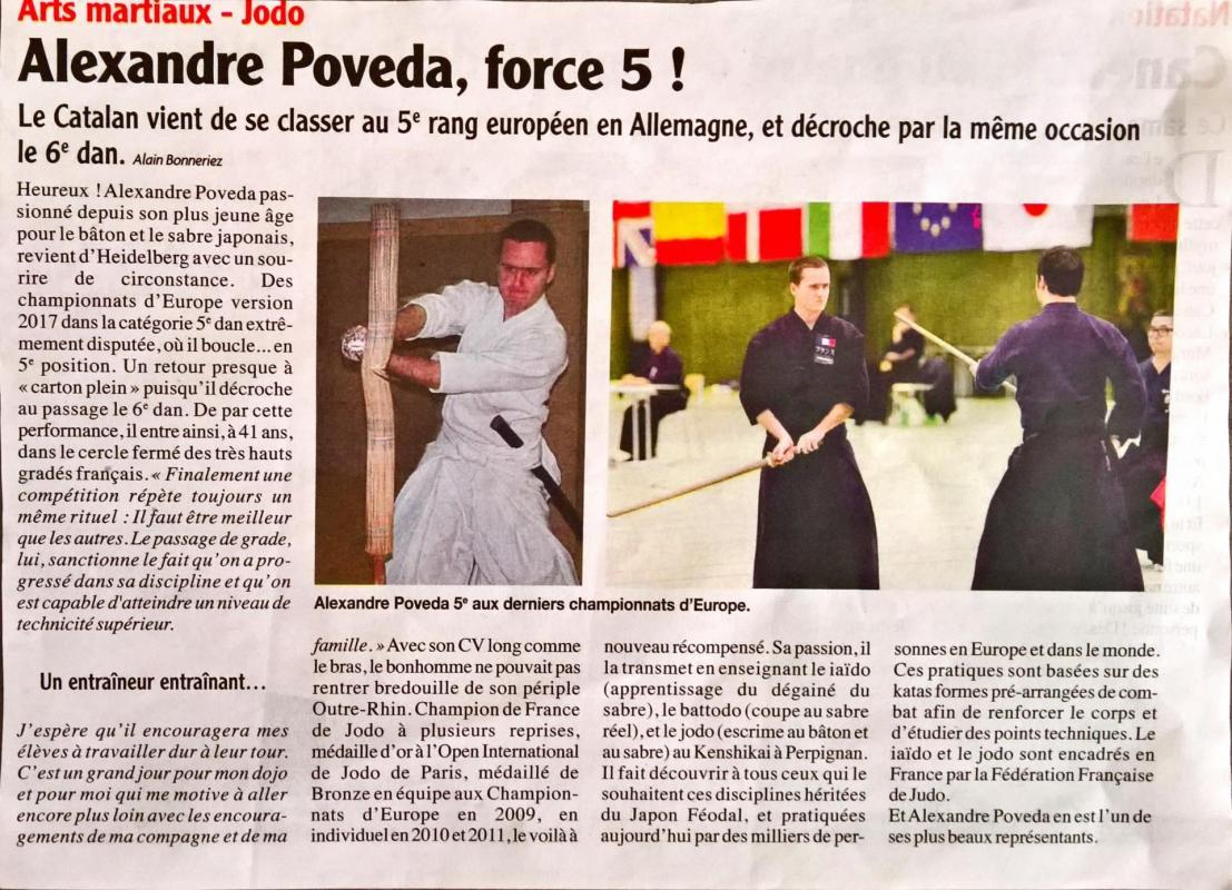 article la Semaine du Roussillon 26/09/17