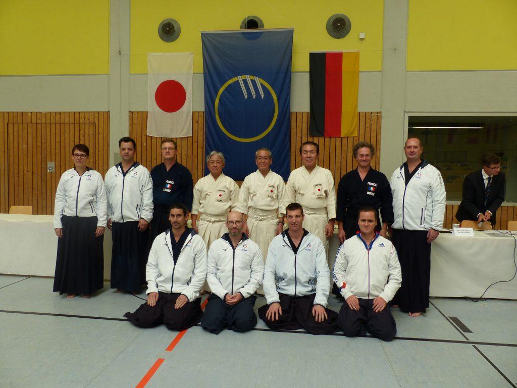 délégations française et japonaise,European Jodo Championship, Heidelberg, Allemagne